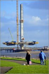 Mersey Gateway Project (Widnes side Northern Pylon) 10th November 2016 (Cassini2008) Tags: merseygatewayproject rubricaformtravellers bridgeconstruction rivermersey widnes