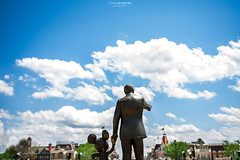 Partners in Crime (NOLA_2T) Tags: walt waltdisney waltdisneyworld wdw partners mickeymouse sky clouds blue dof orlando kissimmee baylake florida fl d610 nikon statue trees