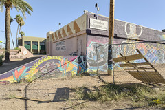 North 16th Street (GC_Dean) Tags: phoenix arizona mural paintedwall graffiti fence weeds dirt palmtree palm tree surveillancecamera smallbusiness sky clearsky bluesky flora street emptiness mundane city cityscape urban urbanlandscape sociallandscape space colors color colours structure building shadows 8104