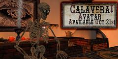 Calavera Avatar Av Oct21st (Elicio Ember) Tags: dayofthedead diademuertos cerridwenscauldron calavera elicioember cg secondlife