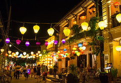 City of lights (Xnalanx) Tags: asia buildings environment hoian lanterns lighting manmade night objects people places restaurant road time tourists vietnam