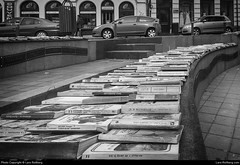 Books, Bucharest, Romania (Lars-Rollberg.com) Tags: books bucharest romania bw sw blackandwhite