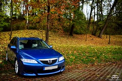 Mazda 6 (Paul.Z.Foto) Tags: time less works timeless timelessworks photo foto photograph photography pic picture image shot shoot car auto bil vehicle automobile automotive mazda 6 japanese import jdm wagon estate blue fwd modified mod diesel lithuania vilnius autumn fall leaves outside outdoors outdoor