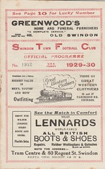 Swindon v Plymouth 28th September 1929 (stfcfan1) Tags: swindon v plymouth 28th september 1929