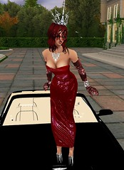 Hood Ornament (SoakinJo) Tags: imvu wetlook wetclothes soakinjo highheels carwash wetdress extremeheels