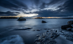 Cold tone (Mika Laitinen) Tags: balticsea europe finland helsinki kallvik leefilters scandinavia vuosaari beach blue cliff cloud color landscape longexposure nature ocean outdoor rock sea seascape shore sky sunset water winter uusimaa fi