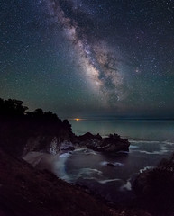 A Moment of Clarity (Casual Explorer) Tags: nightsky milkyway longexposure astrophotography nikond3300 tokinaaf1120mmf28 stars mcwayfalls bigsur california usa