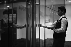 NEWBIE (N A Y E E M) Tags: qaiyoum novice newbie newcomer waiter evening night candid portrait reflection lobby courtyard hotel radissonblu portbar chittagong bangladesh availablelight