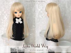 "FS: LeekeWorld wig / 7-8"" Re-tyled LR-027_M EveCream (TURBOW) Tags: bjd doll balljointeddoll bluefairy tinyfairy tf chocolateolive msd"