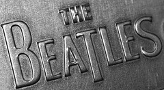 The Beatles (j.towbin ©) Tags: allrightsreserved© beatles logo typography type metal macromondays beatlesbeetles monochrome bw
