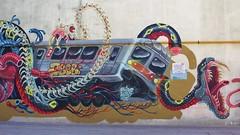 Nychos_7544 rue Ordener Paris 18 (meuh1246) Tags: streetart paris nychos rueordener paris18 animaux serpent