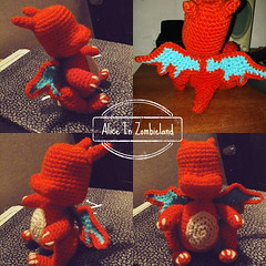 Baby Charizard in progress (Alice Zombieland) Tags: pokemon pokeball pikachu pokebola mew bulbasaur crochet amigurumi yarnaddict handcraft ganchillo hkeln haken virka hckovn heklati virkkaus hekle hkling horgols handmade crochetaddict cute craft yarn lana amigurumis chibi