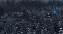 Winter Night Time at 21strom (zuza ritt) Tags: magictree virtualworld christmas chrsitmastree xmas xmastree wintertree winterlandscape snow fantasysecondlife opensim opensimulator metaversum virtualreality digitalworld digitallandscape gameworld gamelandscape 21strom meshtree windanimation secodnlifetree secondlifechristmastree secondlifexmas gazebo cabin wisteria