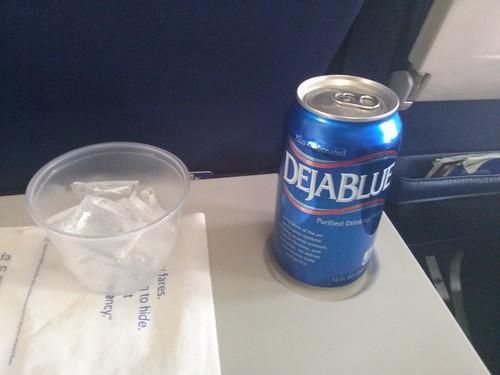 Deja Blue water in a can