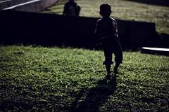 Chasing Shadows (rizkyabi09) Tags: shadow green kid children sillhouette dramatic chasingshadows backlight street candid streetphotography bayangan depok ui universitasindonesia jawabarat streetcandids rural grass bokeh smoothbokeh childhood samsung samsungcamera