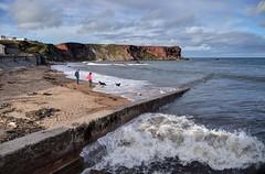 The beach and cliffs at Eyemouth, Scotland (Baz Richardson (catching up again!)) Tags: scotland berwickshire eyemouth coast beaches cliffs seaside