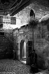 DSCF9663 (Joshua Williams' Photography) Tags: jerusalem israel bw night oldcity