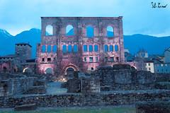 Anfiteatro Romano, Aosta (f.cevrero) Tags: monument history storia monumento romani romans aoste aosta nikon d3200 landscape rocks paesaggio cittadino winter christmas march lights luci