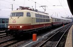 103 184  Weimar  11.10.06 (w. + h. brutzer) Tags: weimar eisenbahn eisenbahnen train trains elok eloks 103 e03 railway deutschland germany lokomotive locomotive zug db webru analog nikon