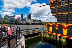 _DSC5025 (durr-architect) Tags: bridge modern london river thames outdoor steel structure architecture water building infrastructure skyline train vehicle metro tube bridges tallships ship