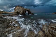 Stargate #1 (davide.calasanzio) Tags: landscape siracusa alba arco clouds longexposure mare paesaggio rocce sea sicilia sunrise flickrsicilia