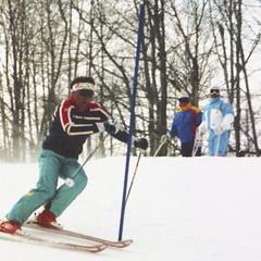 Ski School Slalom (wordman760) Tags: sport skiing slalom racing race gate grayrocks snoweagleskischool sugarpeak winter snow outdoors laurentides laurentians québec canada 35mm