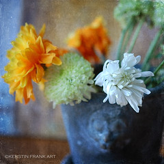 Flowers in a Pot (Kerstin Frank art) Tags: flowers garden pot arrangement chrysanthemum kerstinfrankart bouquet flower plant indoor topaz 2lilowlsstudio