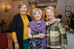 Suzie Conway, Peggy Barnett and Ginger Blanton at the PARTNERS Fall Coffee. (UTHealth) Tags: uthealth school nursing partners fall coffee 2016 houston texas university health science center