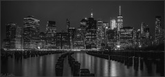 **BIRDS AND STIX** (**THAT KID RICH**) Tags: lines richzoeller rich zoeller night nightphotography brooklyn stix wtc 1worldtrade worldtradecenter ny nyc newyorkcity bk river seagulls birds dark longexposure canon bw lack white reflections explore landscape manhattan buildings architecture