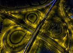 Quadrifoglio Verde (mcalma68) Tags: night highway crossing nightphotography drone phantom dji