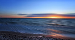 as time goes by (Marcus Rahm) Tags: sea seascape seaside longexposure longtimeshot sonnenuntergang beach water waterscape wasser sun sundown sunlight nature natur naturallight balticsea ostsee waves wave wellen