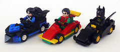 Bat Racers (Oky - Space Ranger) Tags: bird robin dc lego bat super batman heroes racers universe batmobile nightwing