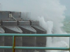 Brighton Marina gets a battering from storm (Lord Cogsby) Tags: storm marina brighton spray strong rough winds seas battered spume