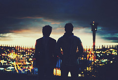 The End of the World (Amanda Mabel) Tags: city sunset portrait sky boys silhouette night clouds twilight shadows bokeh dusk sydney australia ethereal faceless thunderstorm majestic vignette amandamabel