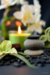 Spa Rocks & Candles (designking73) Tags: flowers hot green muscles stone blackbackground relax back candles glow candle stones almond bamboo resort health massage oil towels sanddollar spine lime relaxation spa luxury oils incense fragrance blackstones hotstone massages whitetowel jojobaoil darksetting sparocks towelswrapped