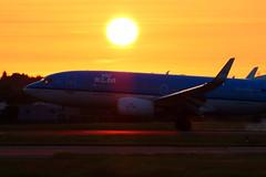 Sunset Arrival (PH-BGQ) (Fraser Murdoch) Tags: road sunset 3 canada dutch up amsterdam by night de gate dubai 26 crash glasgow royal twin canadian emirates stop 25 thomson area otter l parked 23 boeing arrival klm juliet departure 777 runway ams renfrew lay tui gla 737 raked dxb winglets sander 773 b737 787 julliet b787 b777 737700 layby havilland geophysics dhc6 73g 788 inchinnan abbotsinch 777300er dreamliner 77w b773 twotter tuic b77w b788 inchinan