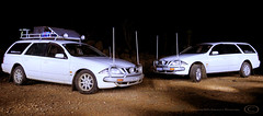 Night photo of the Wagons (OffRoadFalcon's Photography) Tags: 2001 roof light white west