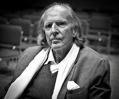 Sir John Tavener, Composer (Ian Skelly) Tags: old portrait blackandwhite bw music composer fragility