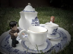 The Doctor & Amy having a tea party