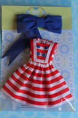 stripes dress navy style