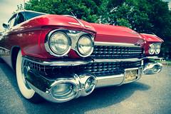Sedan de Ville [Explored] (_Franck Michel_) Tags: red car rouge explorer voiture cadillac chrome american americaine explored