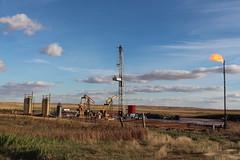 oil well site near Tioga, ND