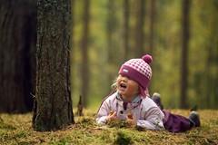 Yaroslava (Gesha M) Tags: wood autumn trees red brown girl yellow canon mushrooms branches 5d 135 zuiko f28 zuiko13528