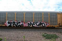 (o texano) Tags: austin bench graffiti texas trains tre cdc freights mecro benching vision:text=0714 vision:outdoor=0978 vision:street=0794