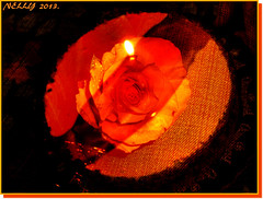 *The Rose,the B/daycake & the Flame...!*
