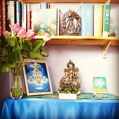 Abhayadevi in Inverness, Green Tara shrine for the Urban Retreat #urbanretreat