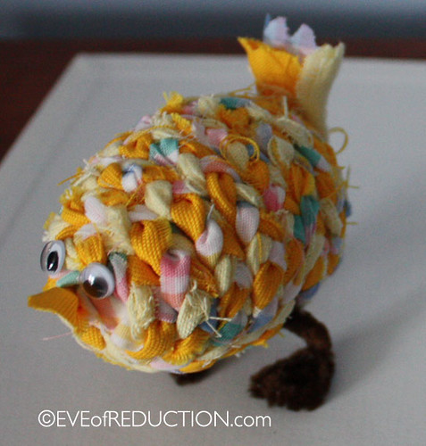 Recycled Easter Egg Braided Chick Craft
