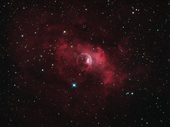 Bubble nebula (NGC7635), Ha/OIII bicolor, 11/12/13 (mcarroll190) Tags: Astrometrydotnet:status=solved Astrometrydotnet:id=nova144547