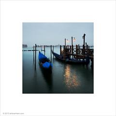 Venice Gondolas (Ian Bramham) Tags: venice dawn gondolas ianbramham vision:text=0597 vision:outdoor=0962