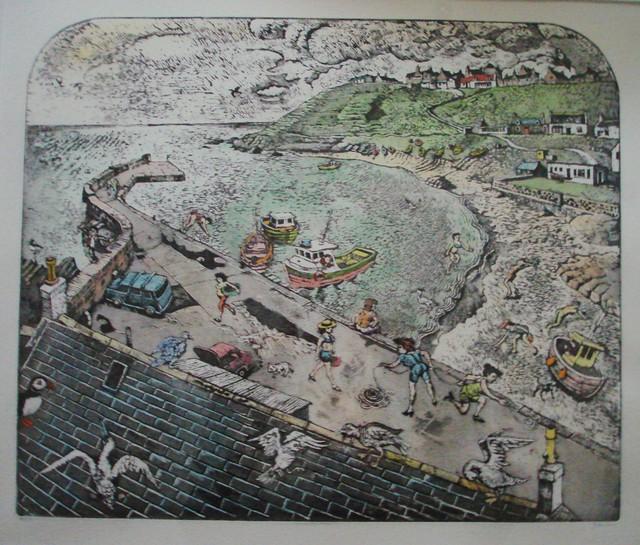 101 Collieston Harbour by John Johnstone